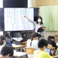 国語科研究授業を行いました。